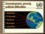 unemployment poverty political difficulties
