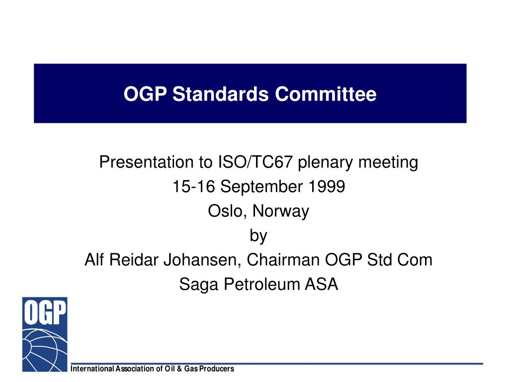 ogp standards committee l.