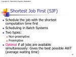 shortest job first sjf