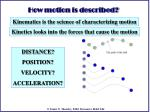 how motion is described