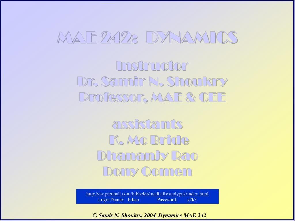 mae 242 dynamics l.