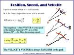 position speed and velocity