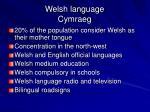 welsh language cymraeg