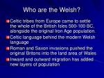 who are the welsh