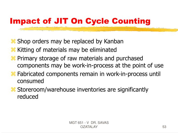 Impact of JIT On Cycle Counting