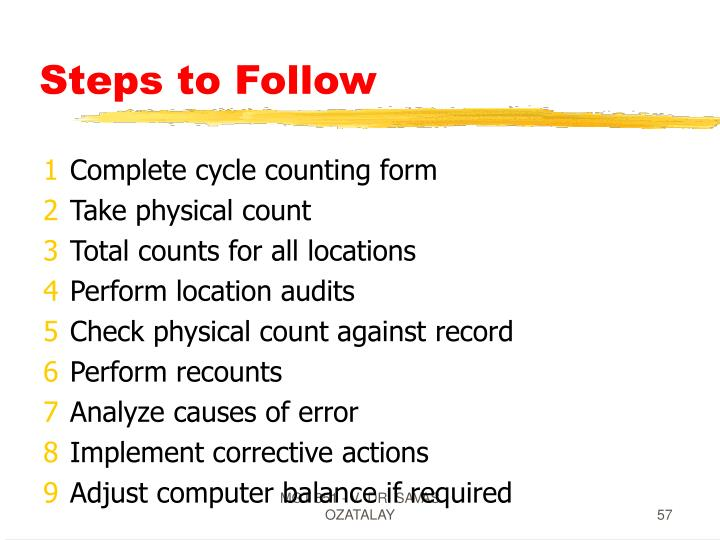 Steps to Follow
