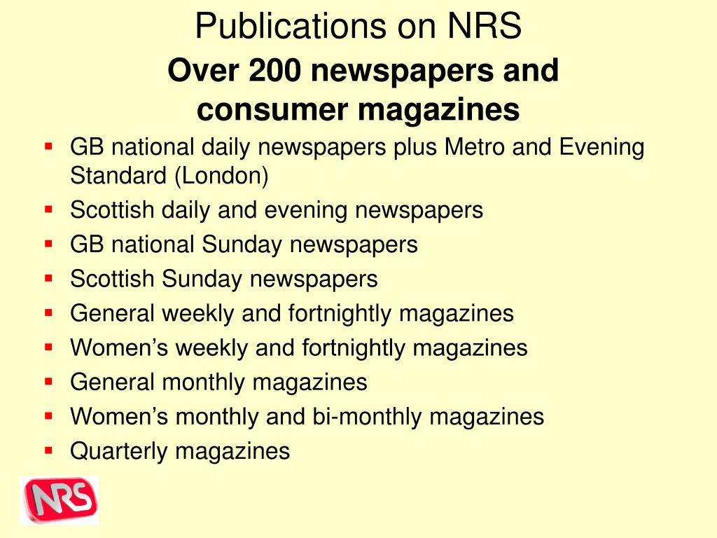 Publications on NRS