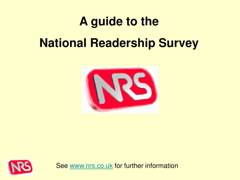 see www nrs co uk for further information l.
