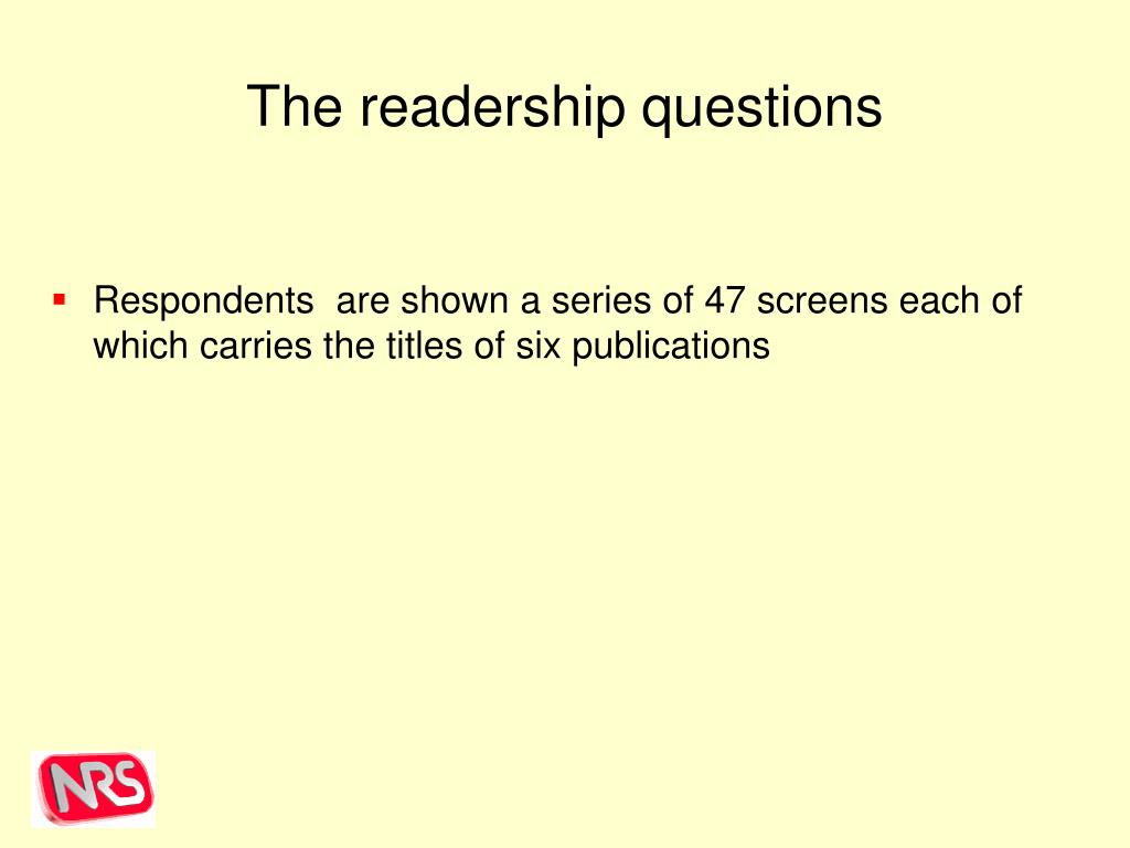The readership questions