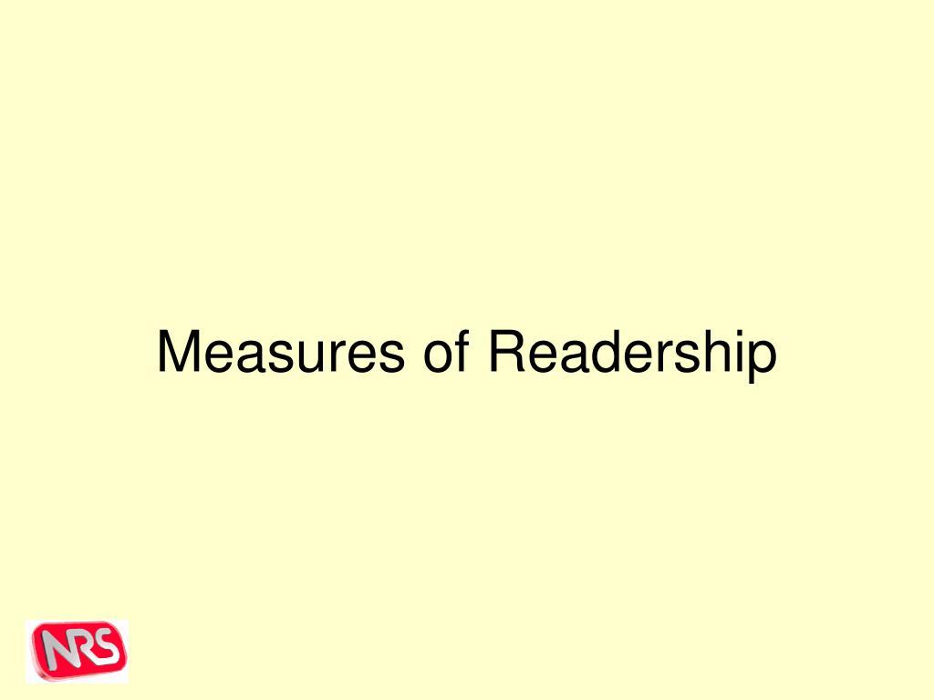 Measures of Readership