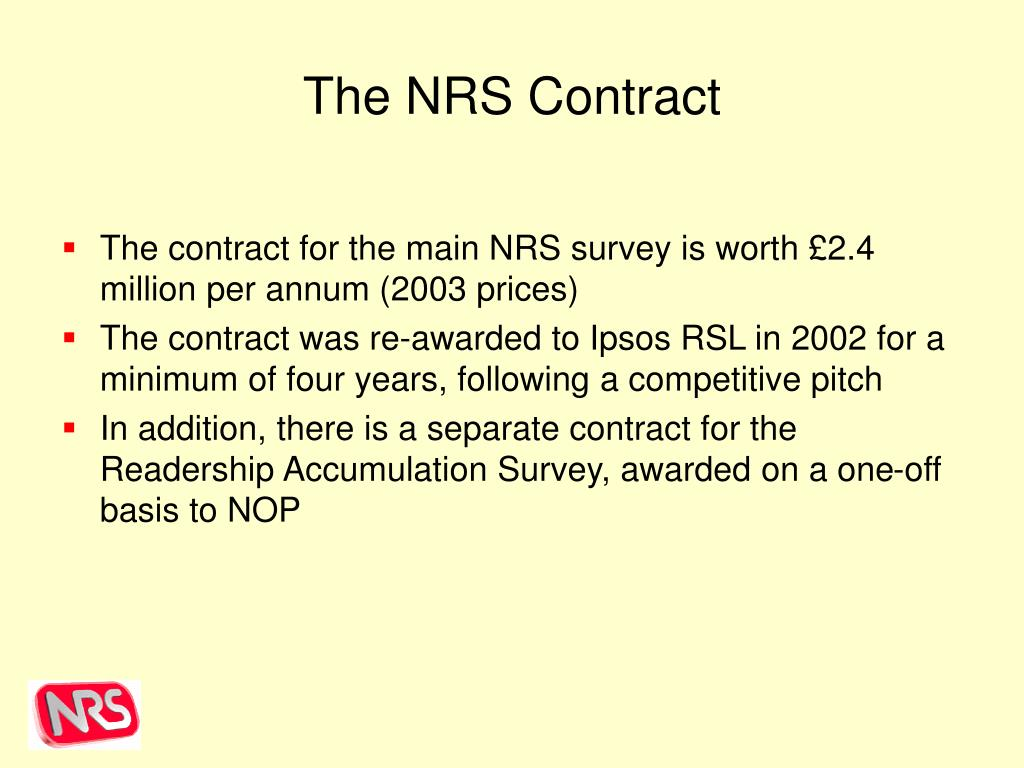 The NRS Contract