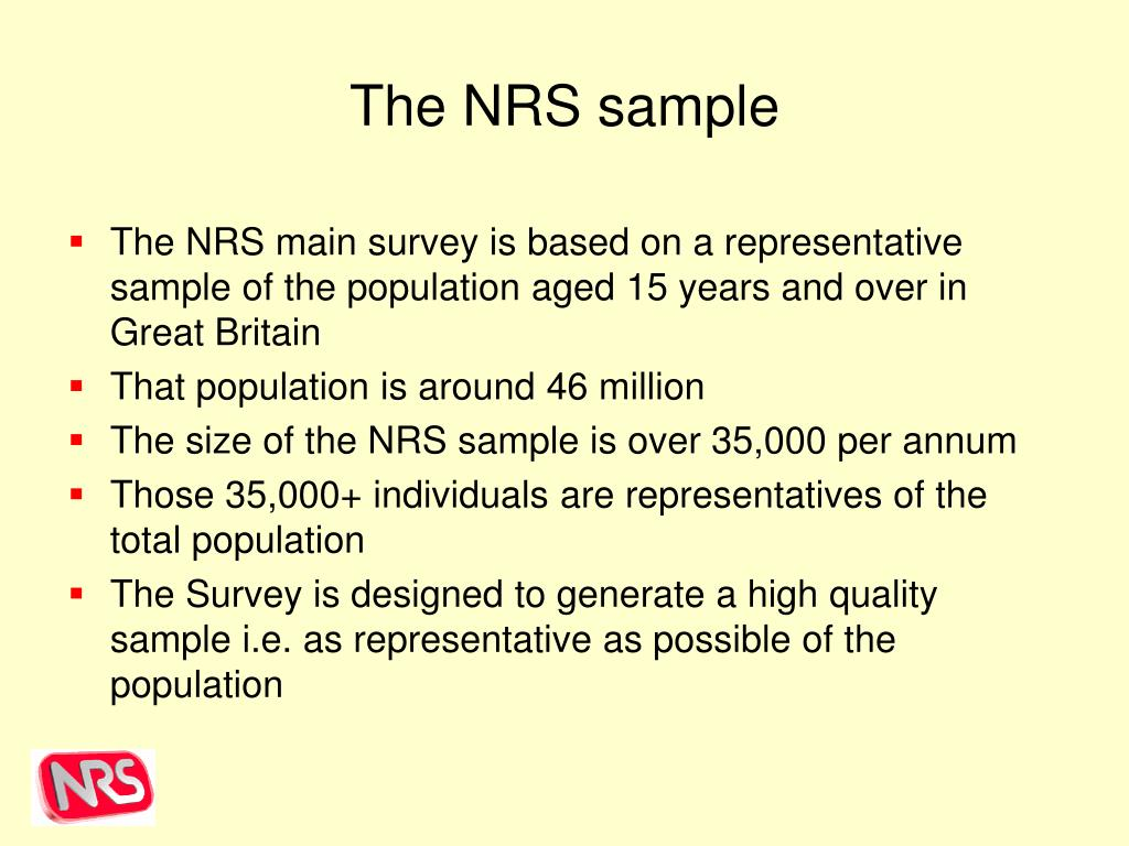 The NRS sample
