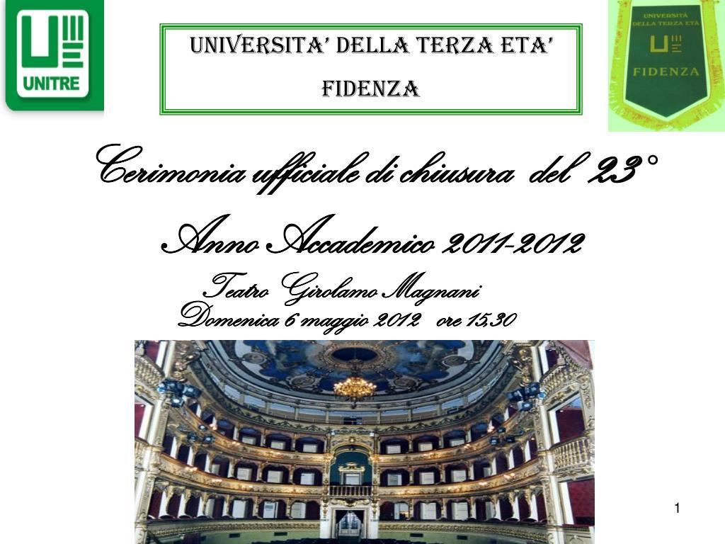 cerimonia ufficiale di chiusura del 23 anno accademico 2011 2012 l.