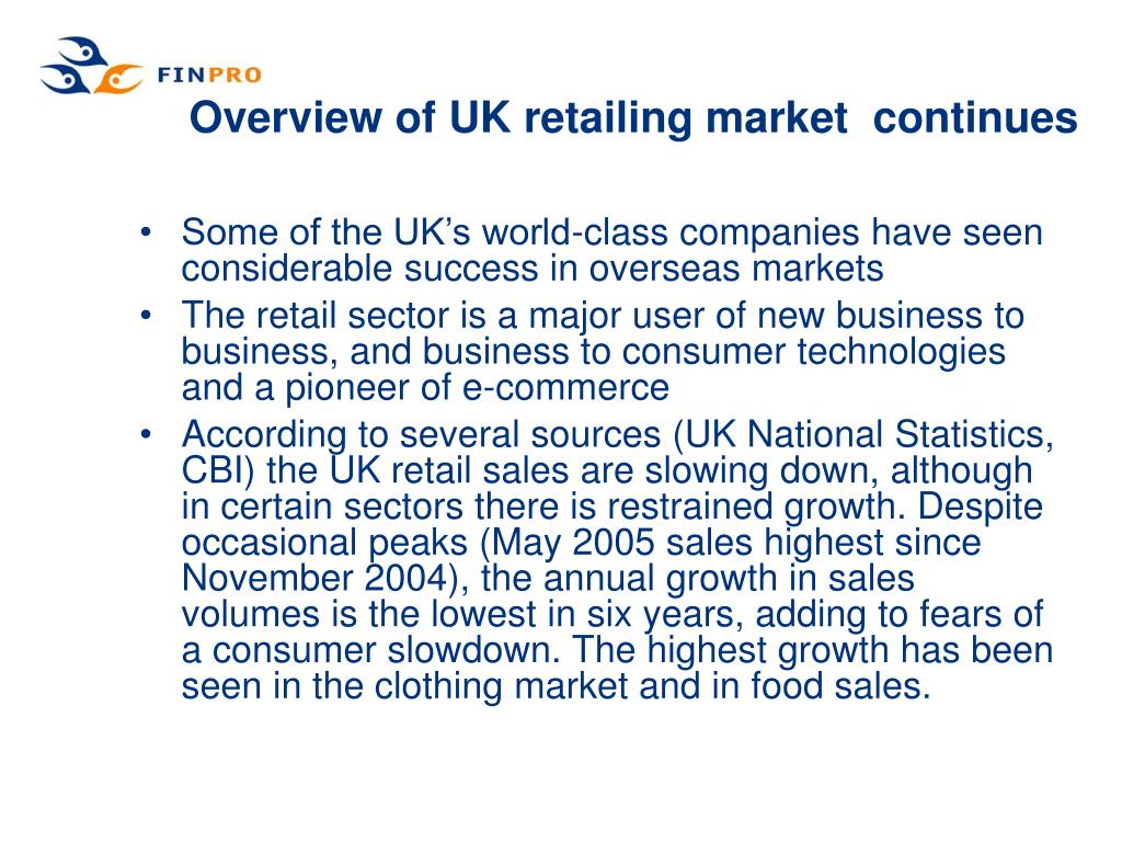 Overview of UK retailing market  continues