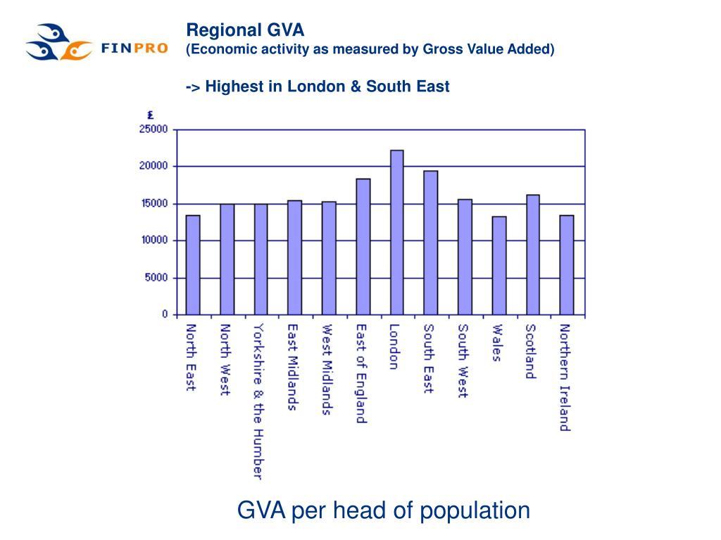 GVA per head of population