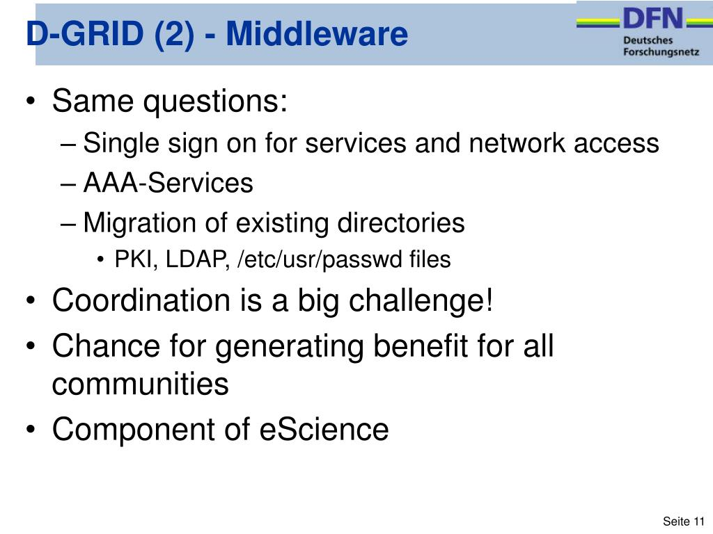 D-GRID (2) - Middleware