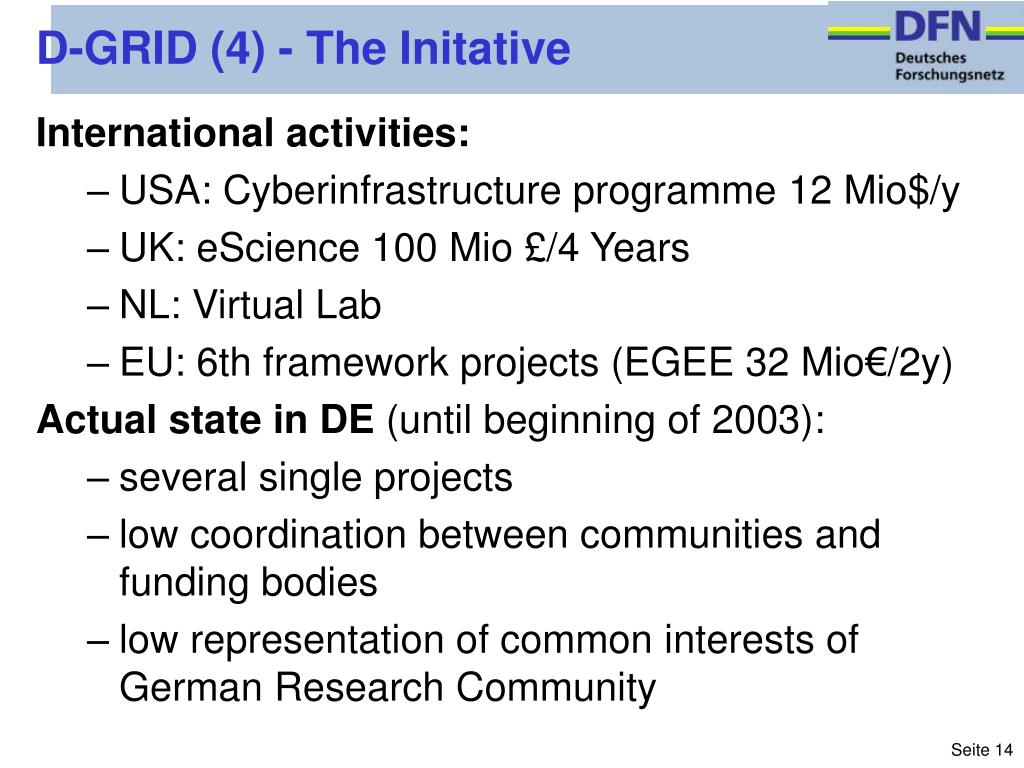 D-GRID (4) - The Initative