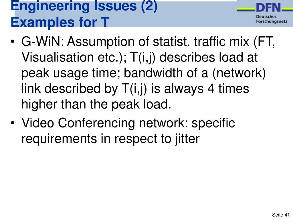 Engineering Issues (2)