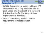 engineering issues 2 examples for t