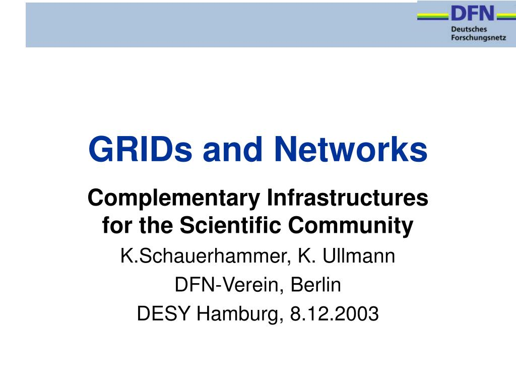 GRIDs and Networks