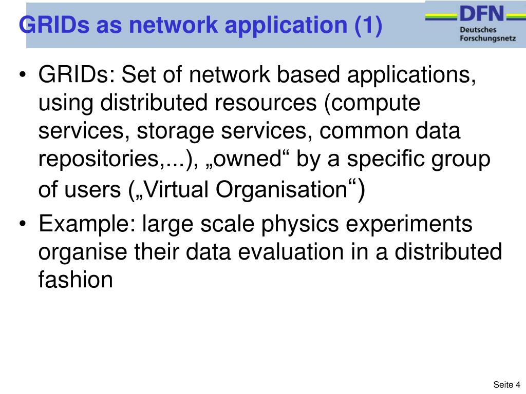 GRIDs as network application (1)
