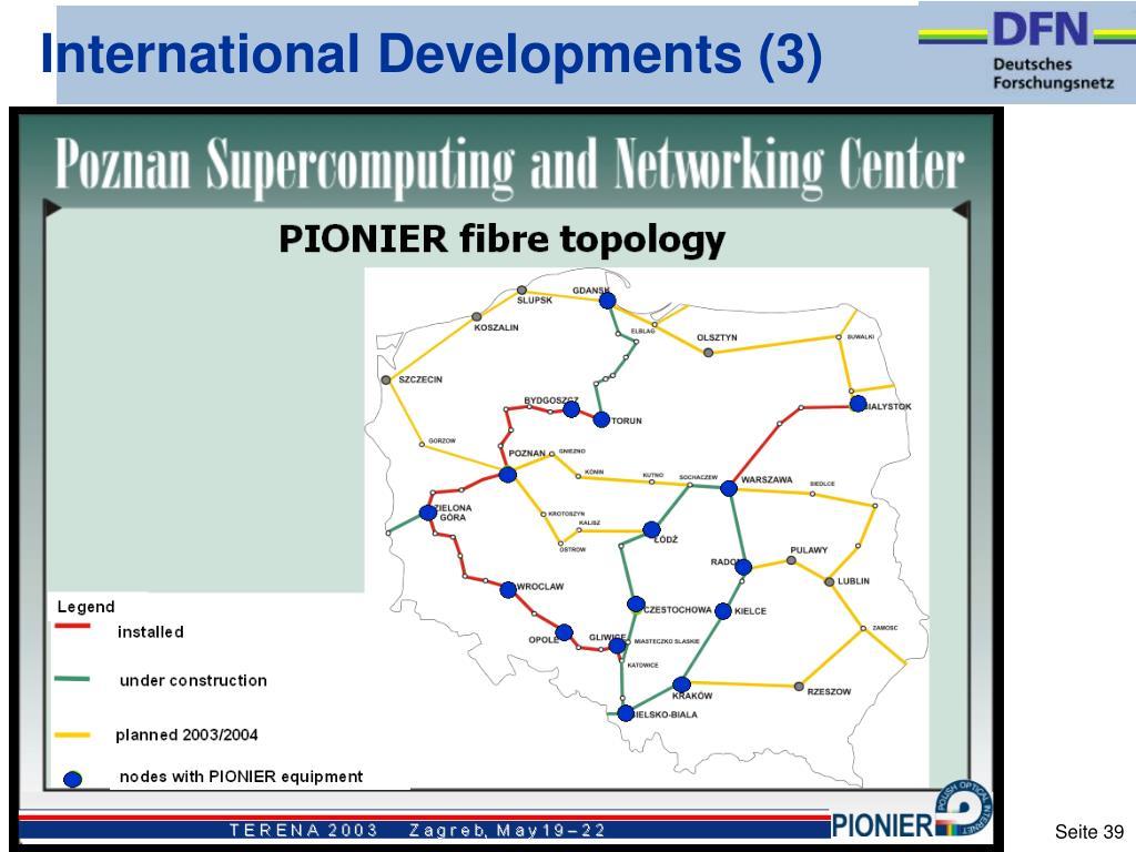 International Developments (3)