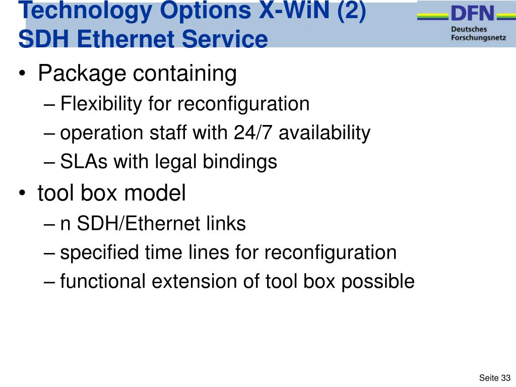 Technology Options X-WiN (2)