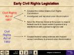 early civil rights legislation