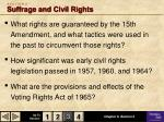 s e c t i o n 3 suffrage and civil rights