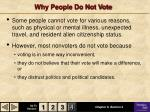 why people do not vote