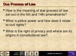 s e c t i o n 1 due process of law