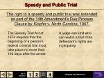 speedy and public trial