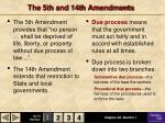 the 5th and 14th amendments