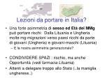 lezioni da portare in italia