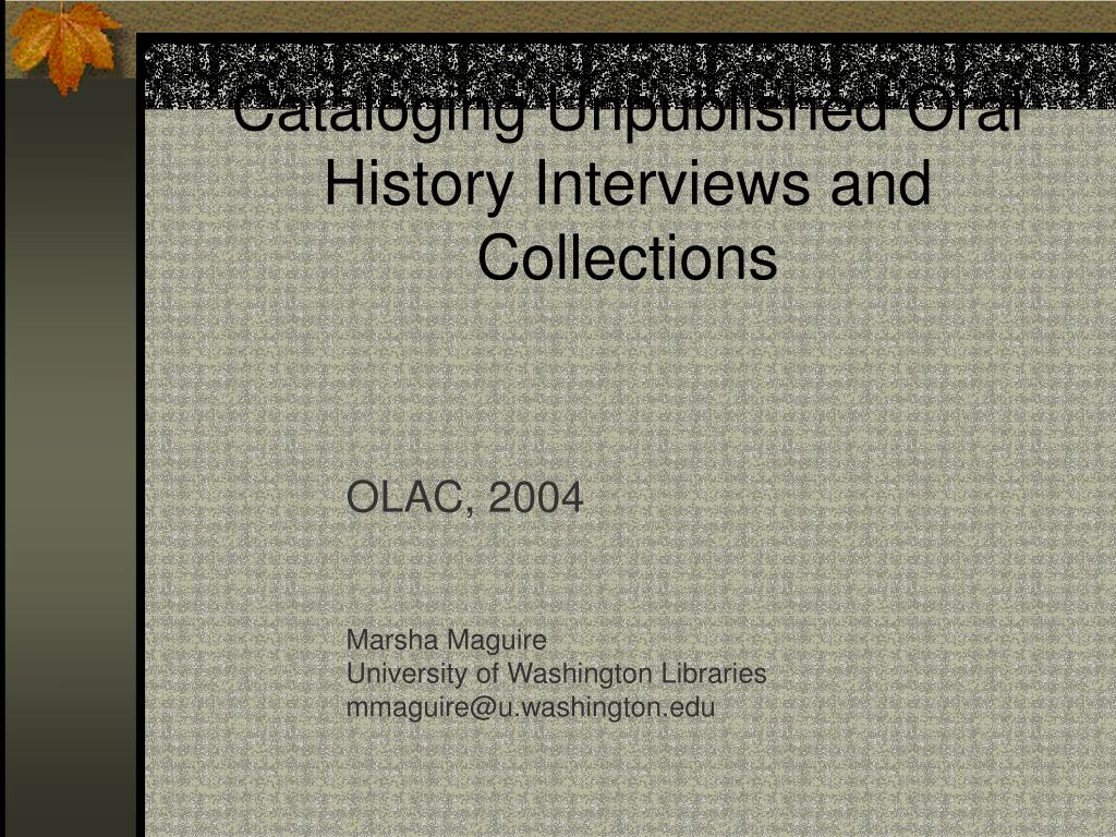 olac 2004 marsha maguire university of washington libraries mmaguire@u washington edu l.