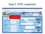 step 5 ptec e payment