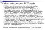 early education programs eppe results