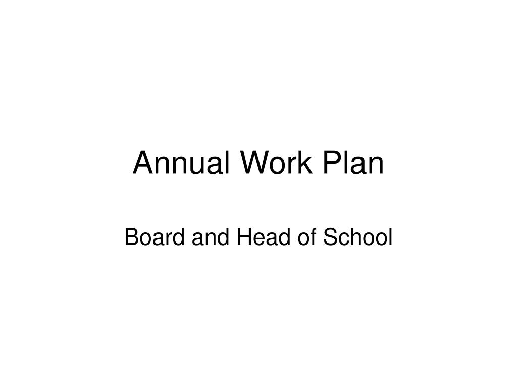annual work plan l.