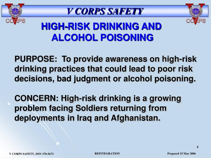 HIGH-RISK DRINKING AND