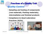 functions of a quality unit