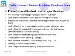 quality assurance common regulatory compliance issues78