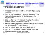 quality assurance common regulatory compliance issues79