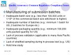 quality assurance common regulatory compliance issues80