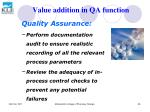 value addition in qa function55