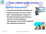 value addition in qa function56