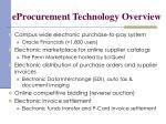 eprocurement technology overview