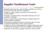 supplier enablement goals