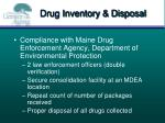 drug inventory disposal