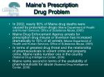 maine s prescription drug problem