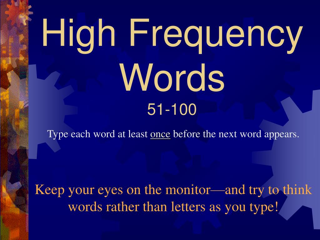 high frequency words 51 100 l.